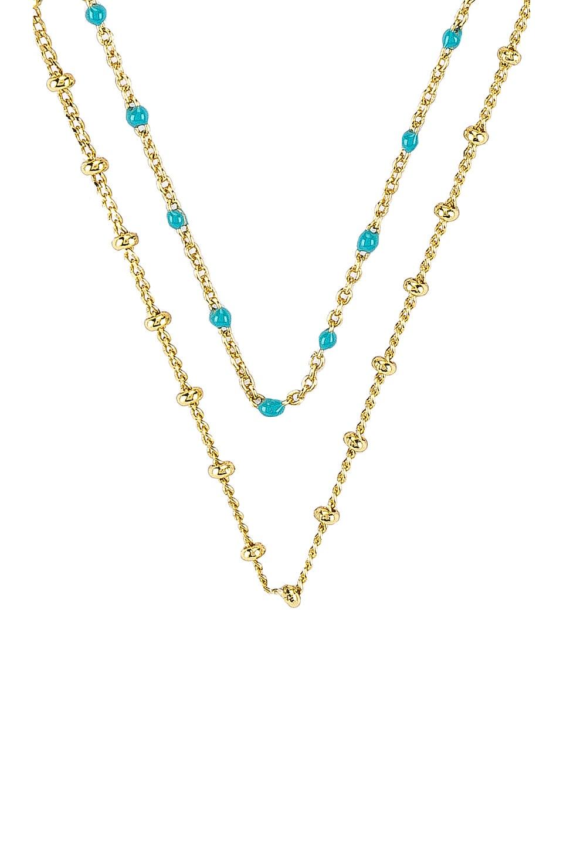gorjana Capri Layer Necklace in Turquoise Enamel & Gold