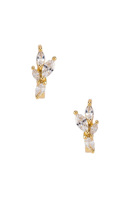 gorjana Lena Huggie Earrings in White CZ & Gold