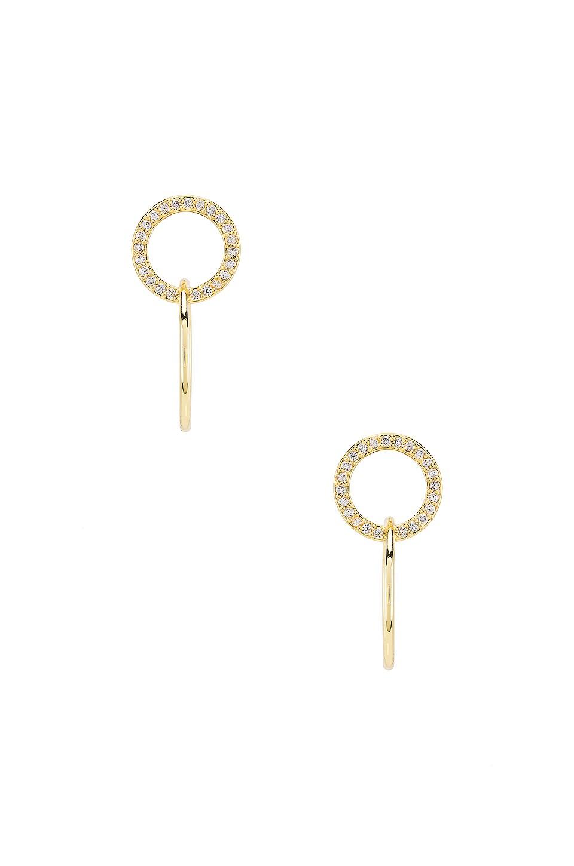 gorjana Balboa Shimmer Interlocking Stud Earrings in White CZ & Gold