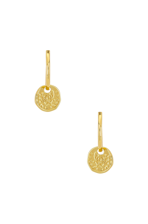 gorjana Ana Coin Huggie Earrings in Gold