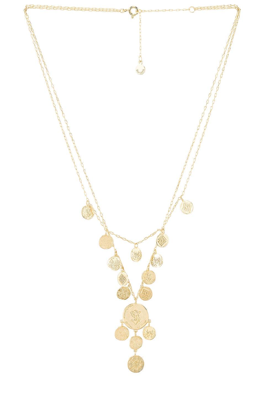 gorjana Ana Coin Layered Necklace in Gold