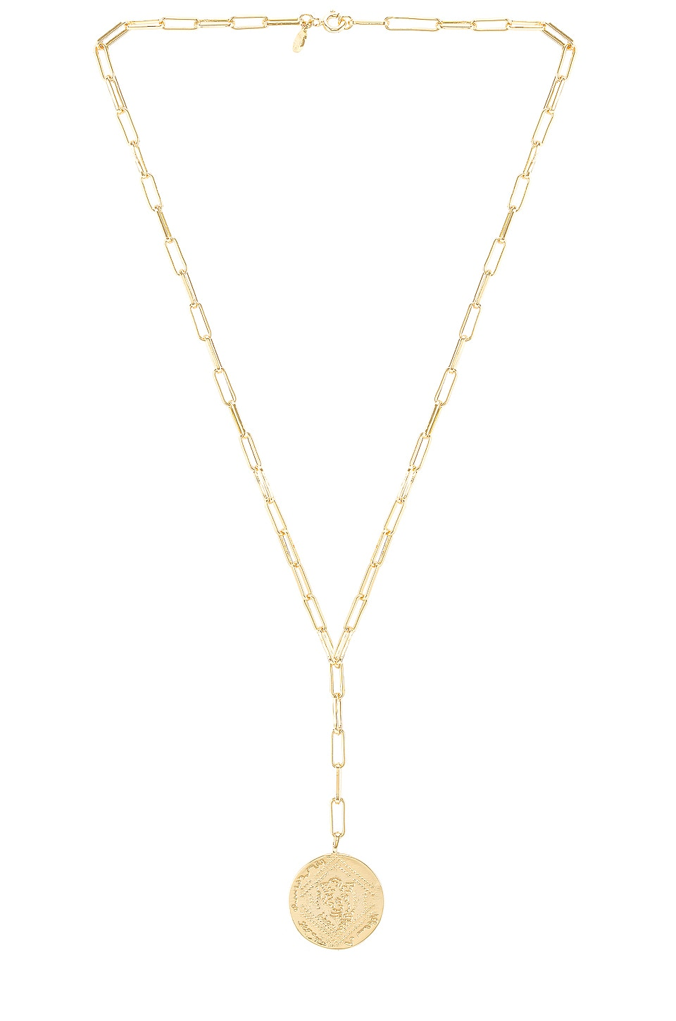 gorjana Ana Coin Lariat Necklace in Gold