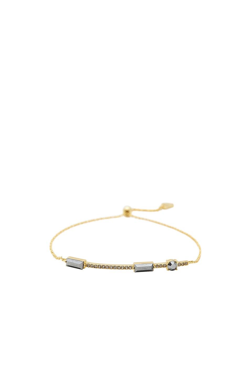 gorjana Desi Bracelet in Jet Hematite Crystal & Black Crystal & Gold
