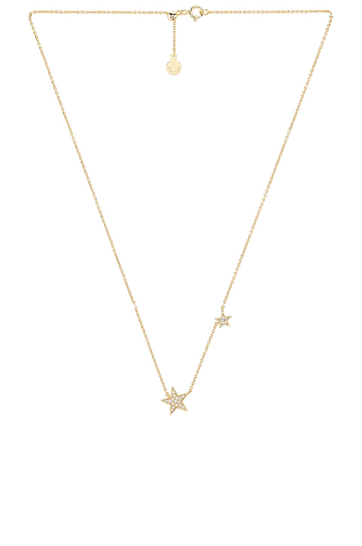gorjana Super Star Shimmer Necklace in White CZ & Gold