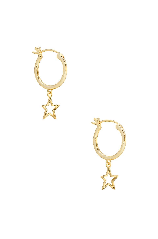 gorjana Super Star Huggies in Gold