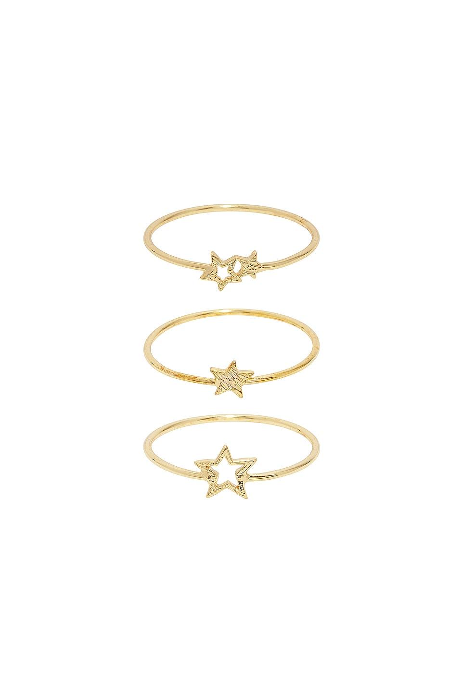 gorjana Super Star Ring Set in Gold