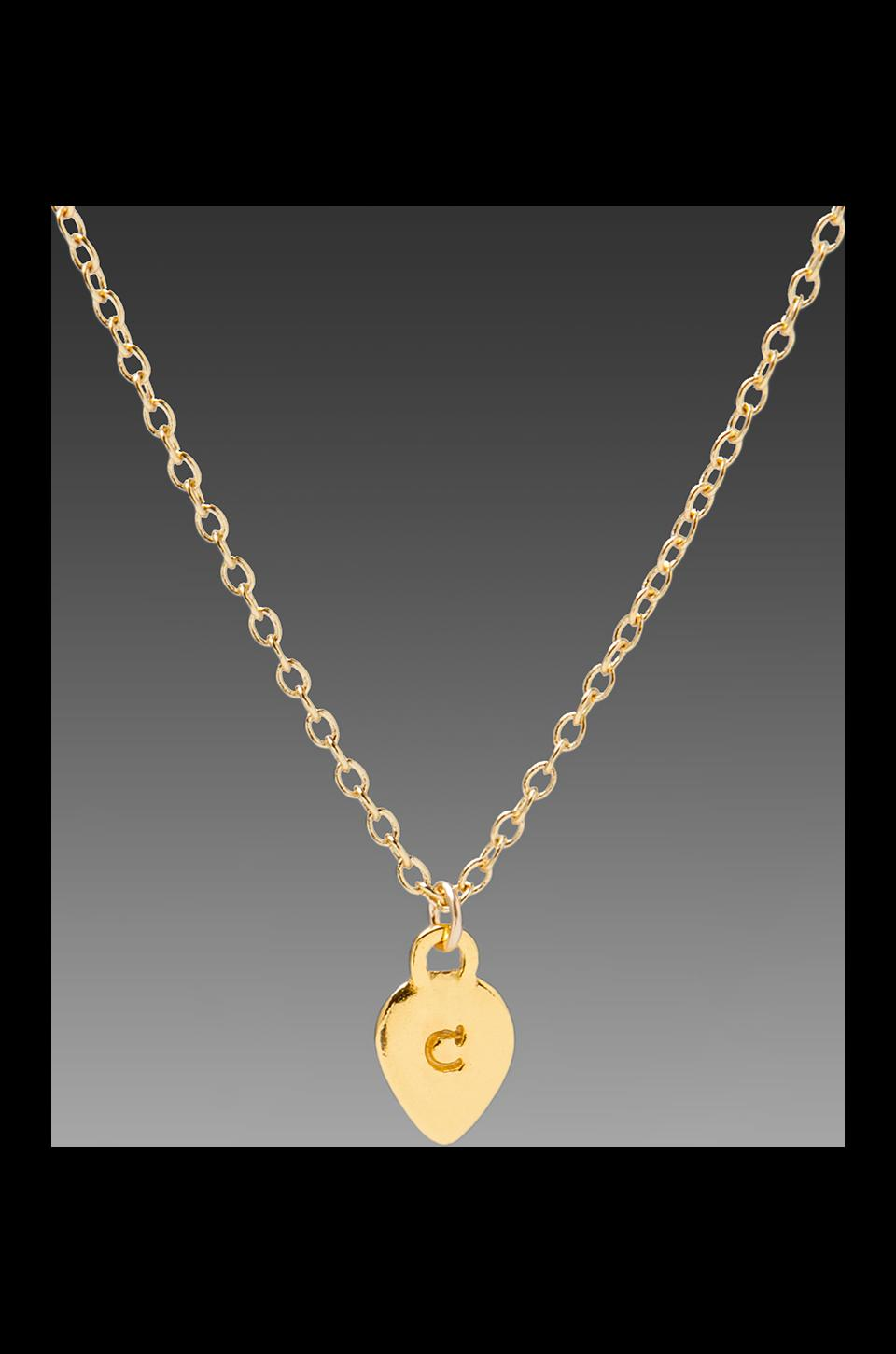 gorjana Alphabet Charm Necklace in 'C'