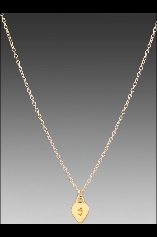 gorjana Alphabet Charm Necklace in 'J'