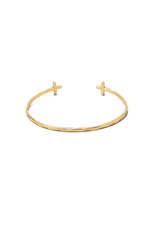 gorjana Cross Over Cuff Bracelet in Gold