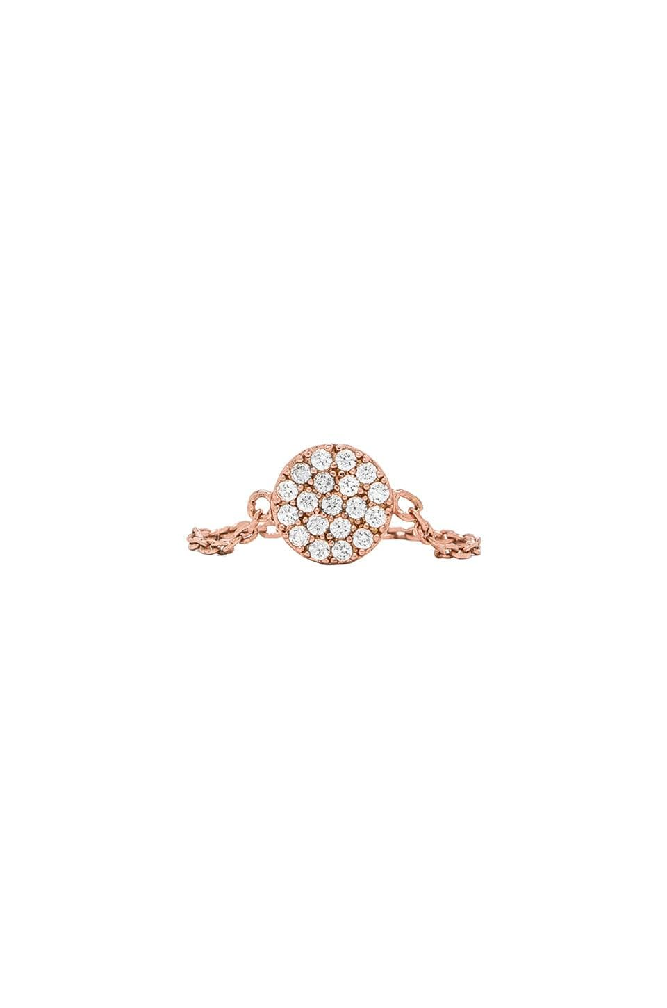 gorjana Shimmer Disc Chain Ring in Rosegold