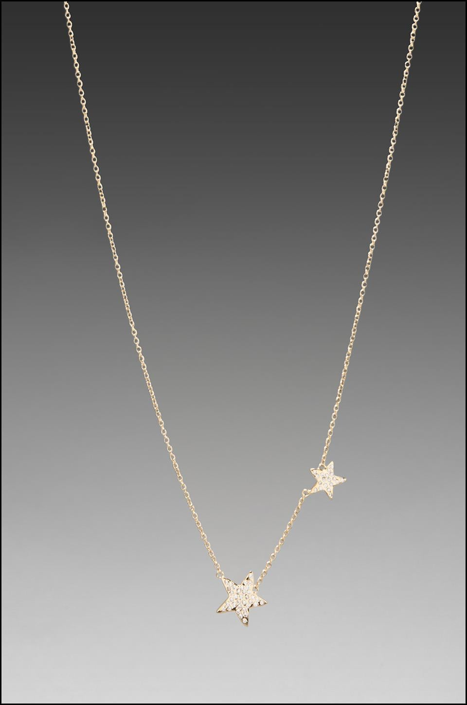 gorjana Super Star Shimmer Necklace in Gold