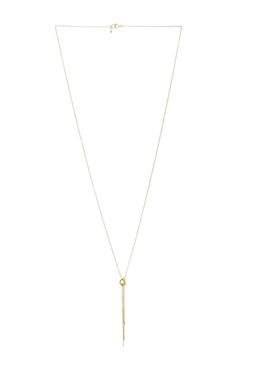gorjana Infinity II Tiered Long Necklace in Gold