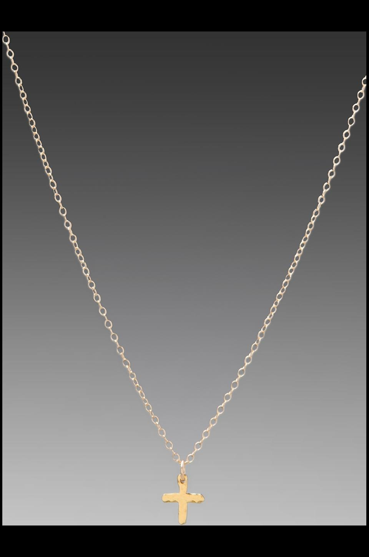 gorjana Cross Over Necklace in Gold