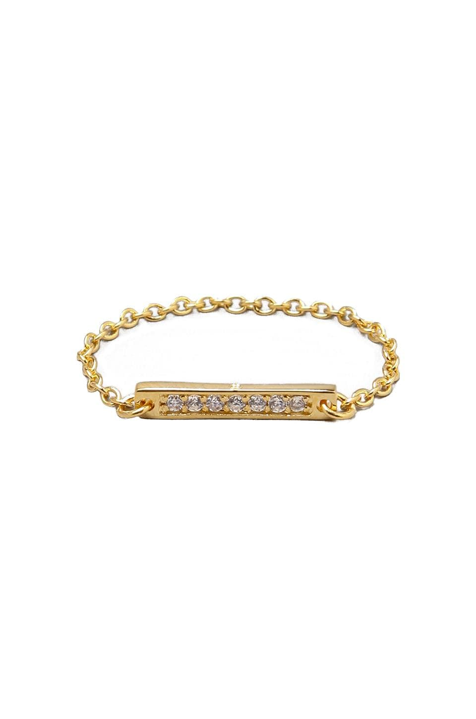 gorjana Kennedy Chain Ring in Gold
