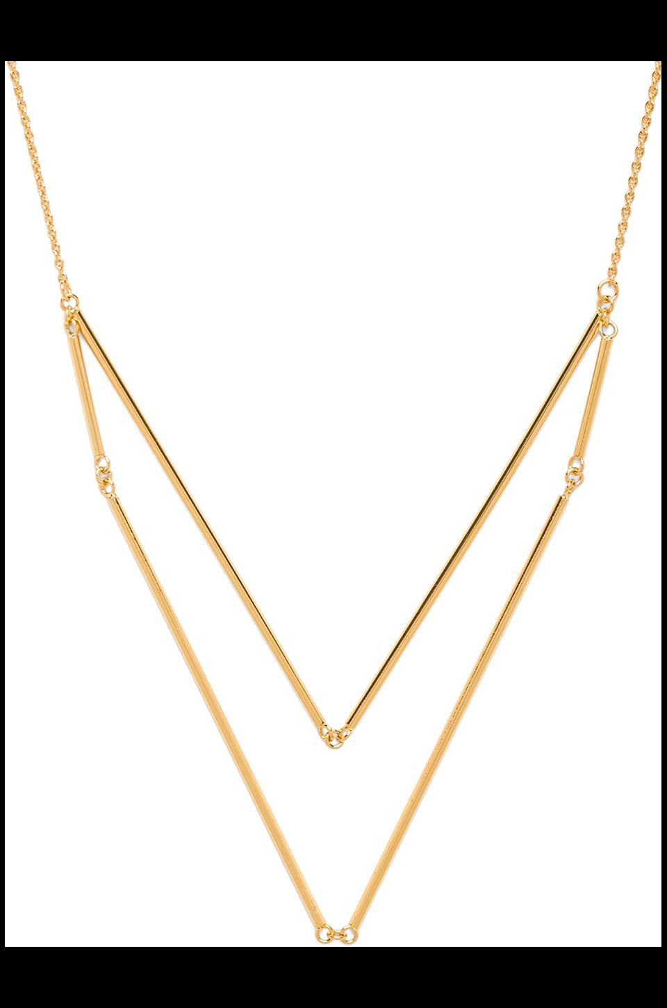 gorjana Greer V-neck Layer Necklace in Gold