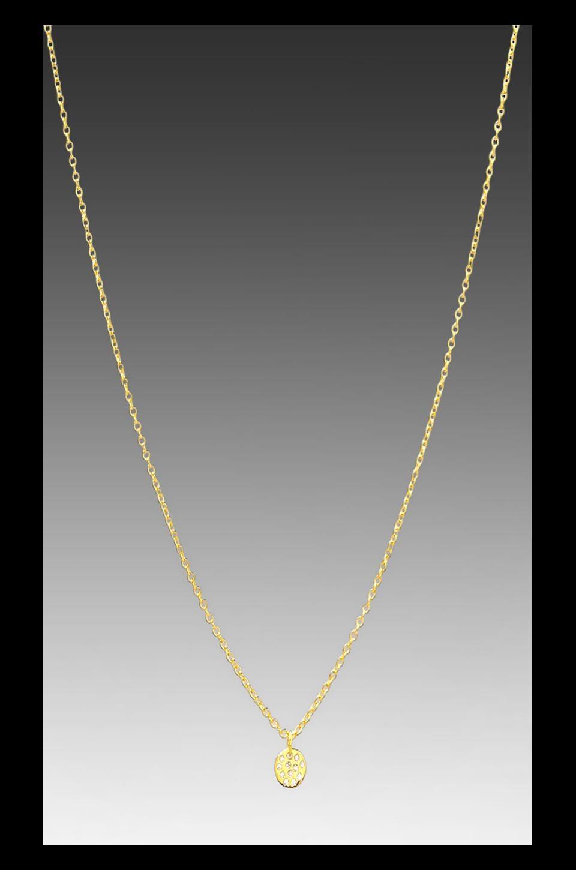 gorjana Shimmer Disc Necklace in Gold