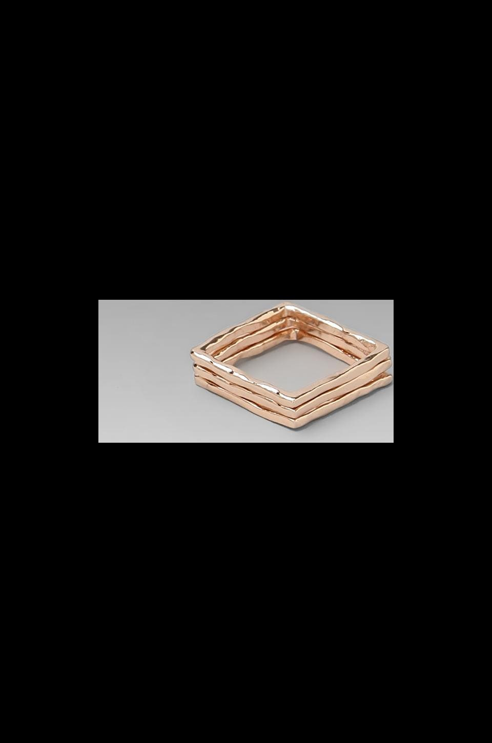 gorjana Finley Ring Set in Rosegold