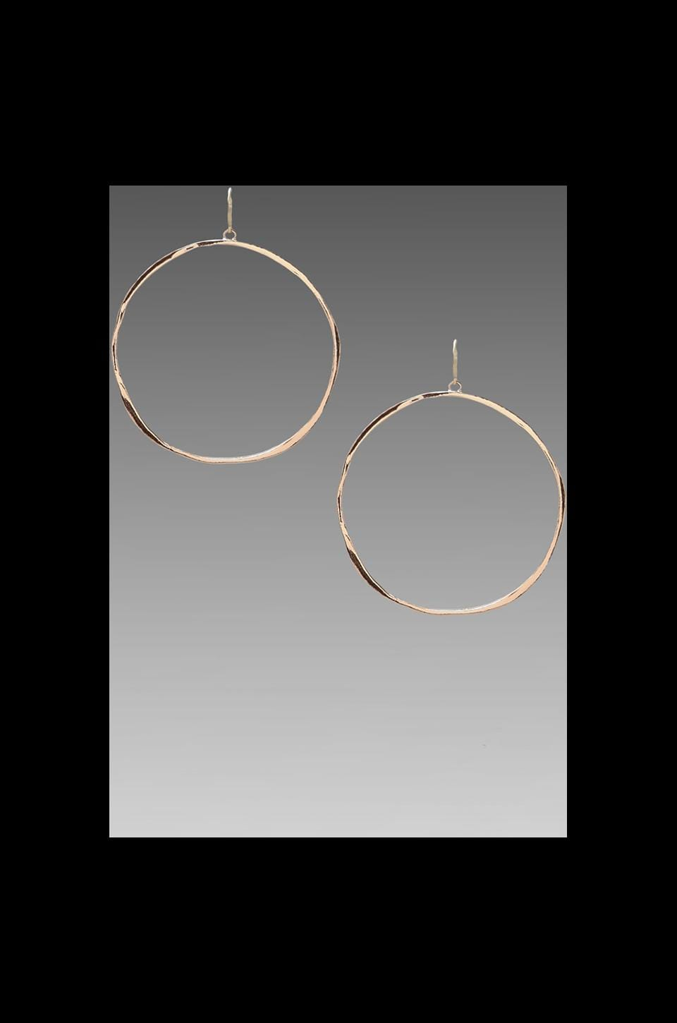 gorjana G Ring Earrings in Rosegold