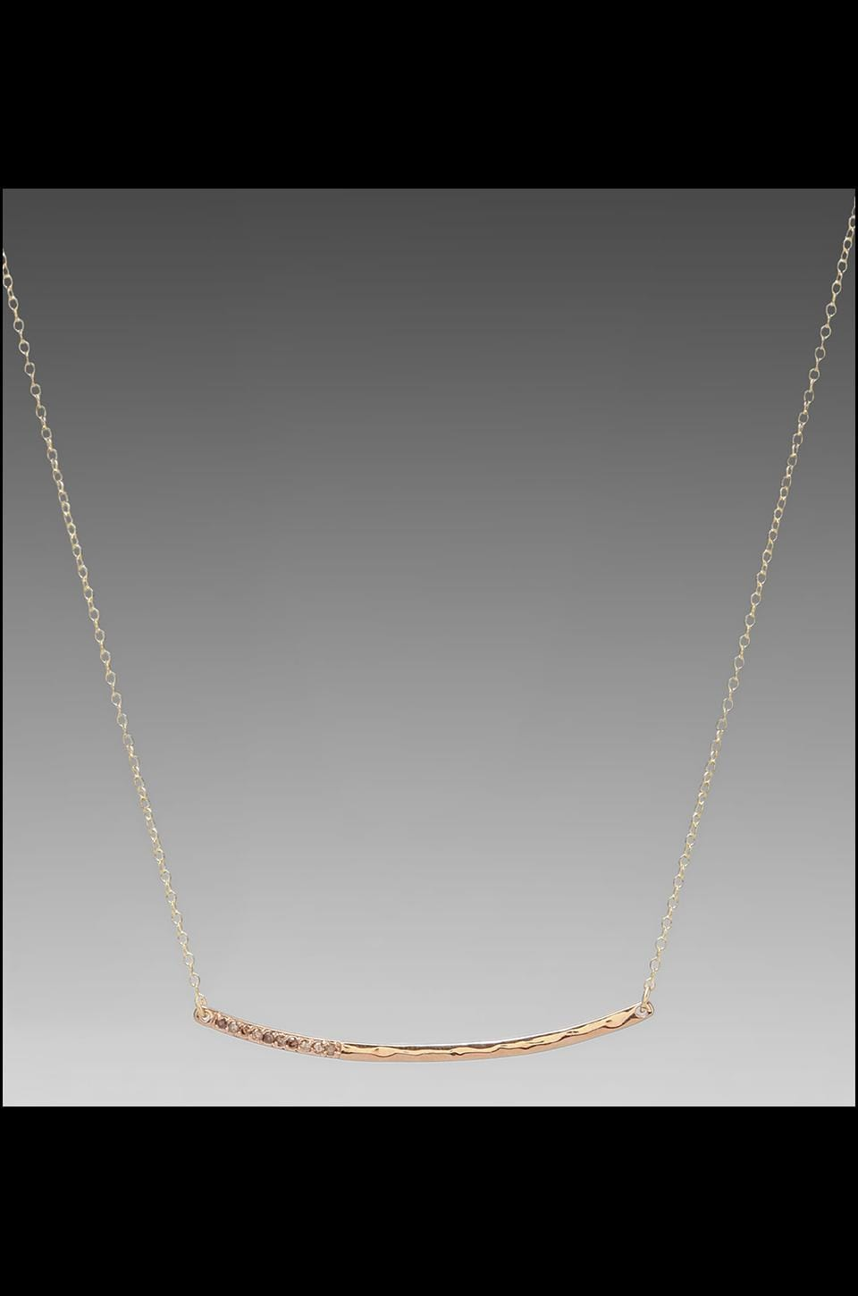 gorjana Taner Shimmer Necklace in Rosegold