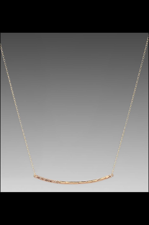 gorjana Taner Shimmer Necklace in Rosegold