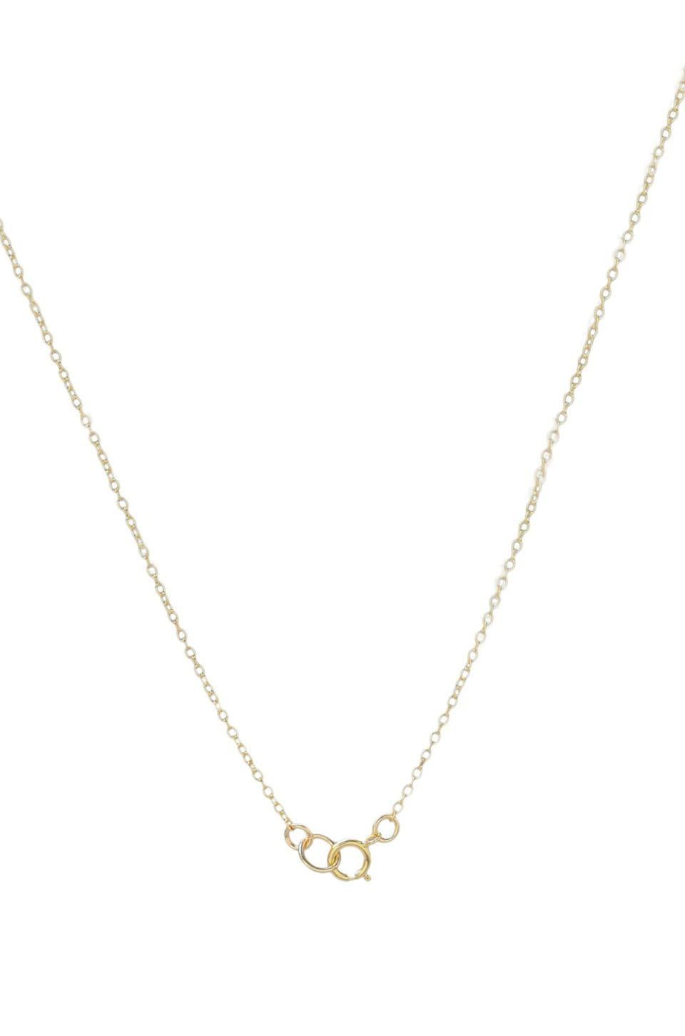 gorjana Wishbone Charm Necklace in Gold