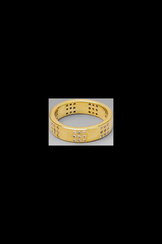 gorjana Delaney Square Ring en Or