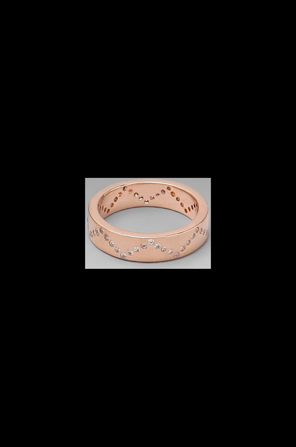 gorjana Delaney Wave Ring in Rosegold