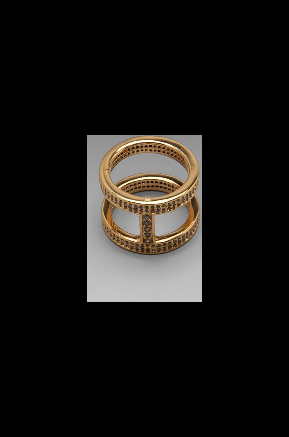 gorjana Lena Shimmer Double Bar Ring in Gold