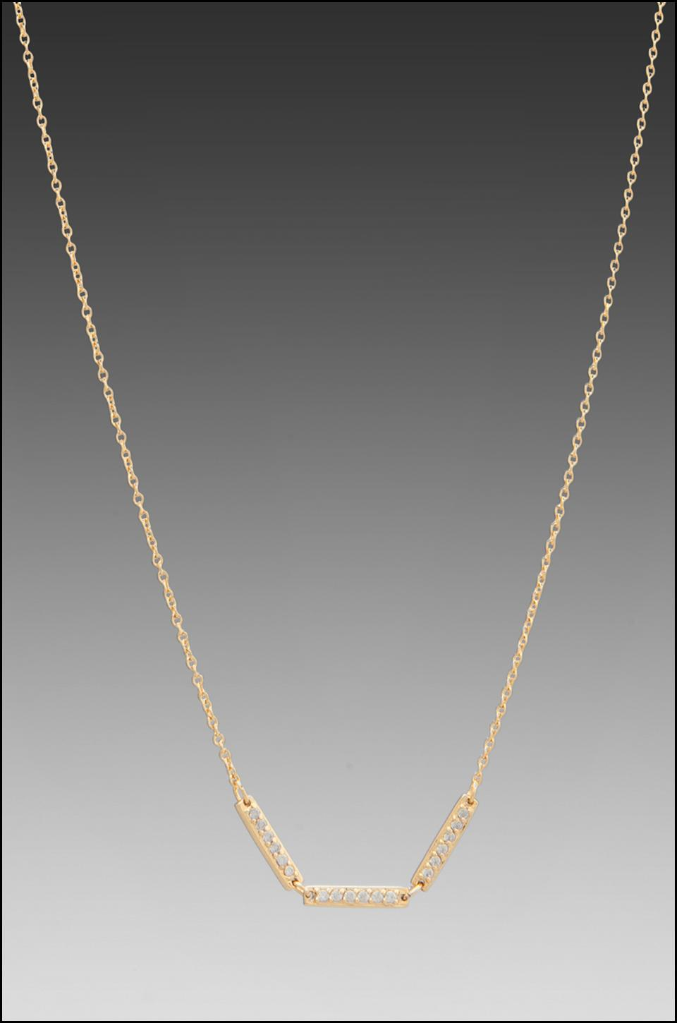 gorjana Kennedy Three Bar Necklace in Gold