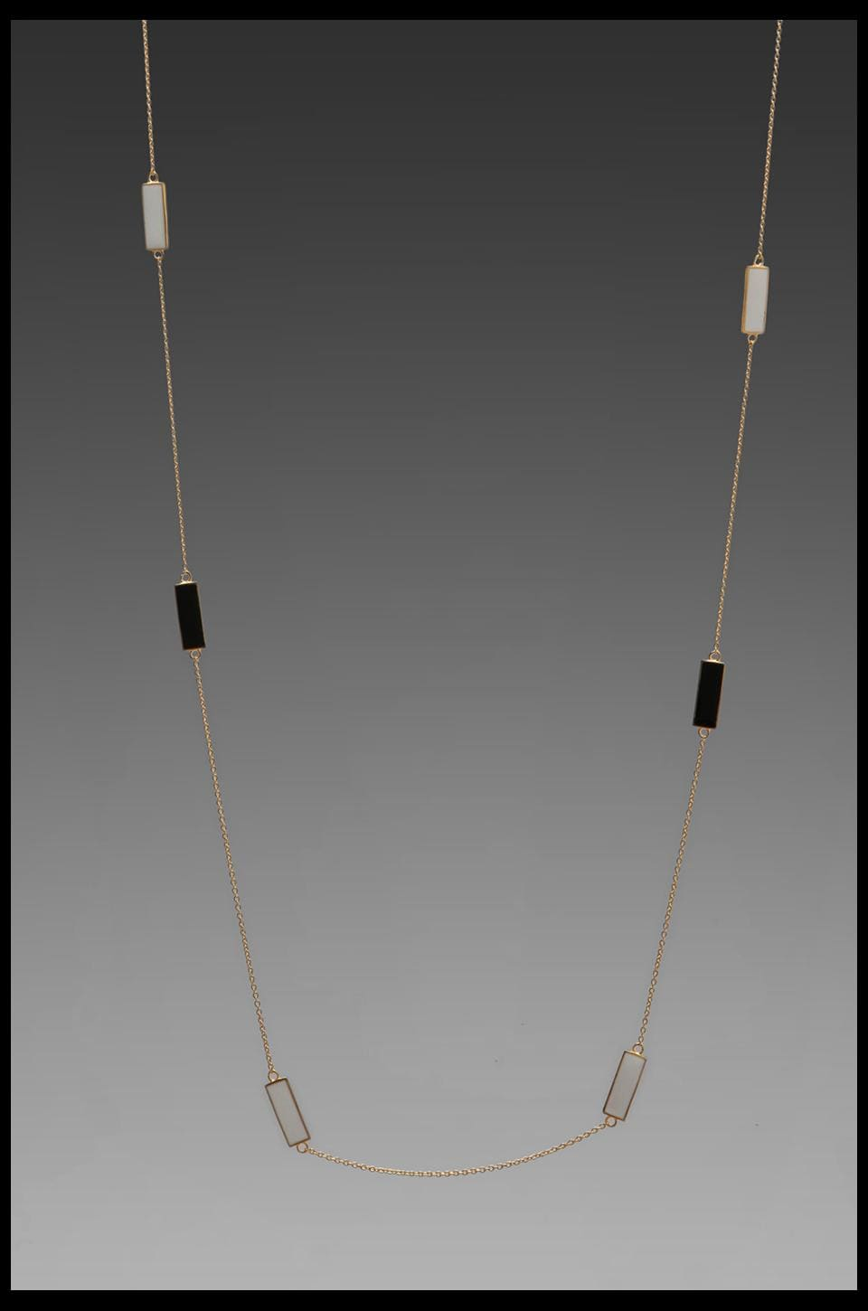 gorjana Bloom Rectangle Wrap Necklace in Black/White