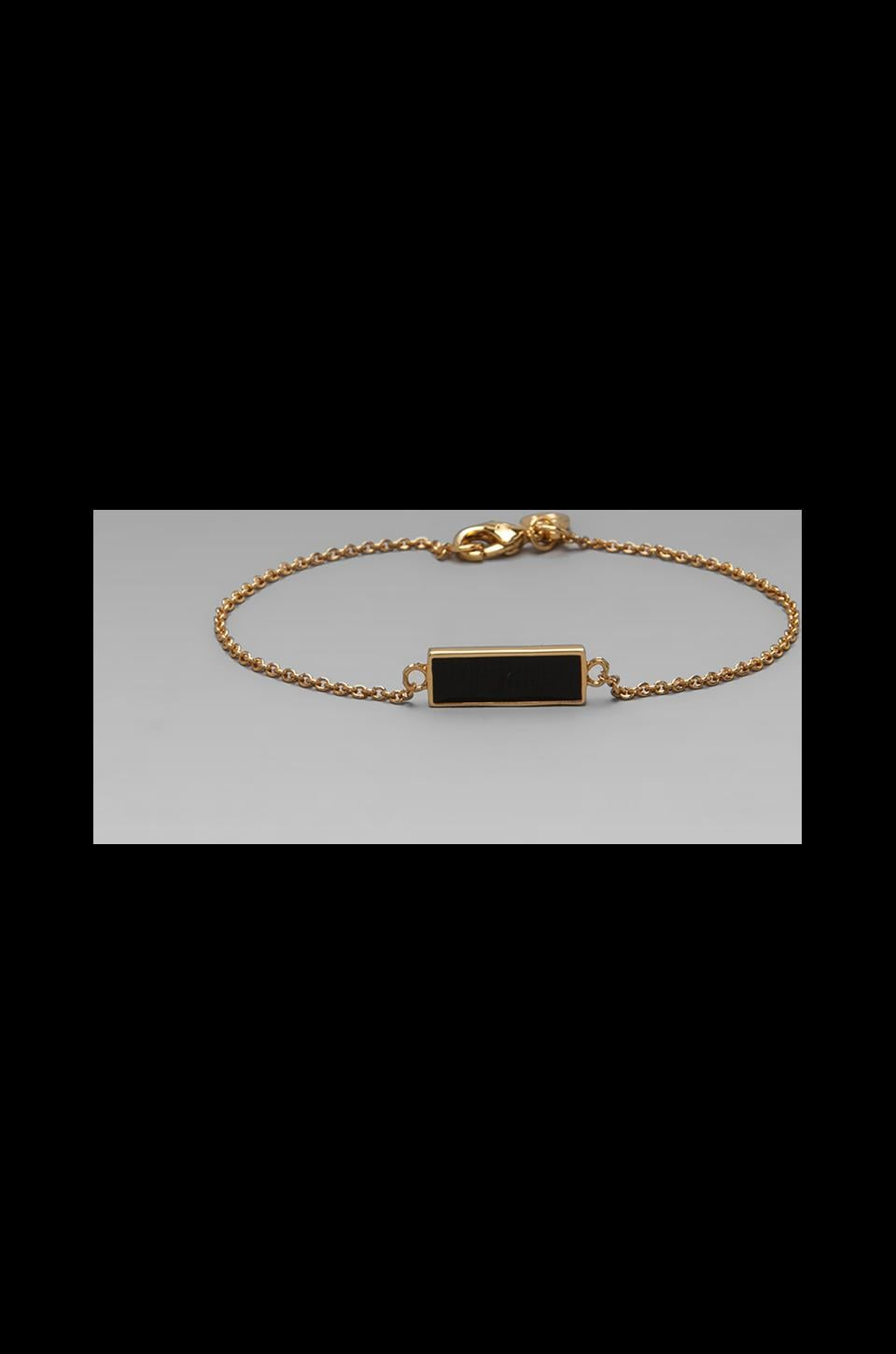gorjana Bloom Rectangle Bracelet in Black