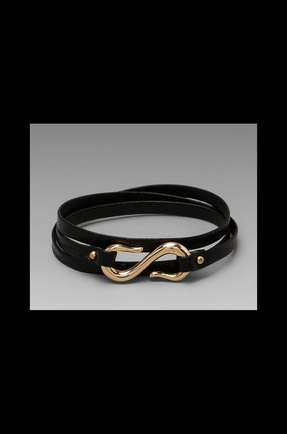 gorjana Sadie Triple Wrap Bracelet in Black