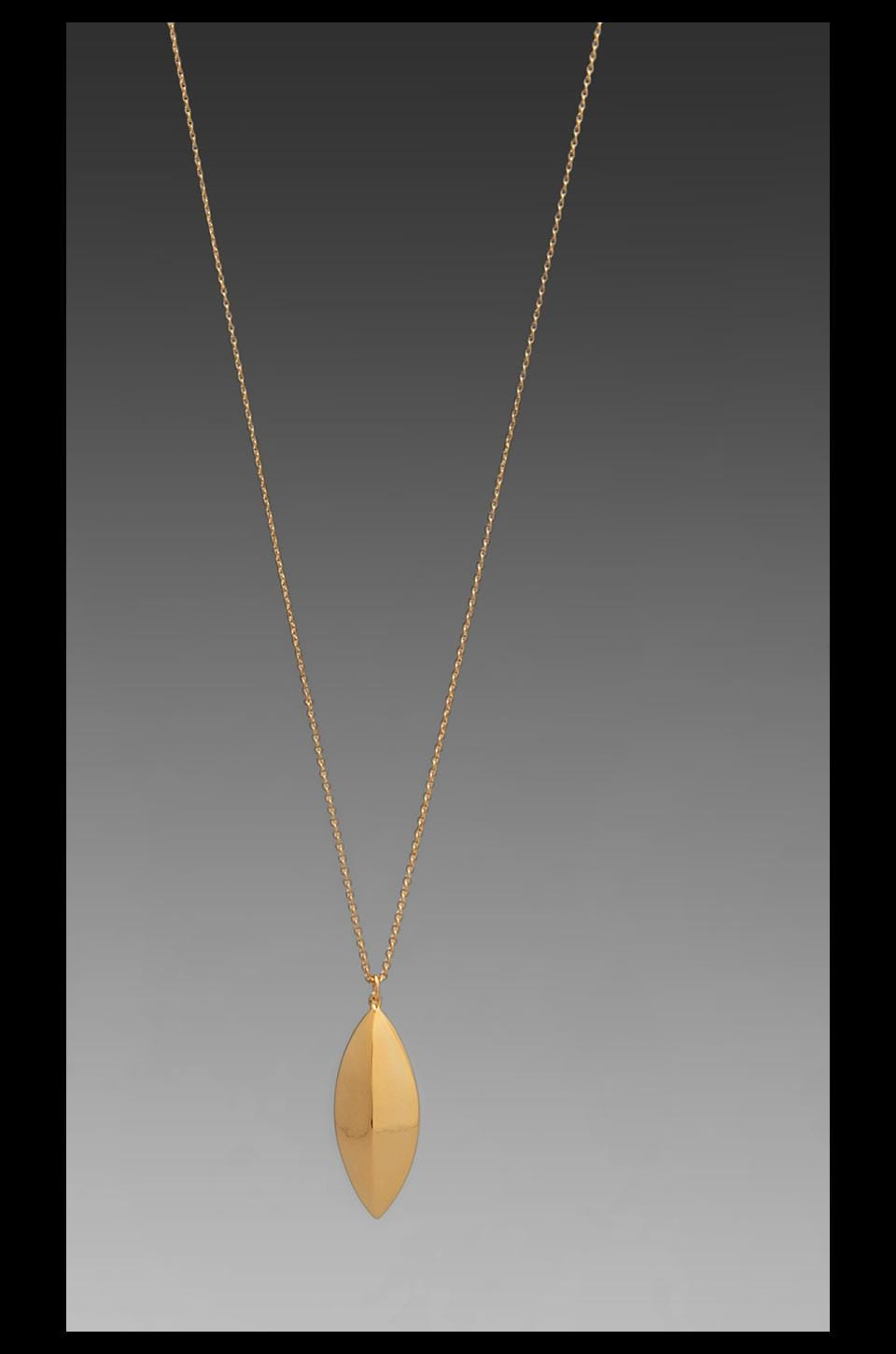 gorjana Cat Eye Long Necklace in Gold