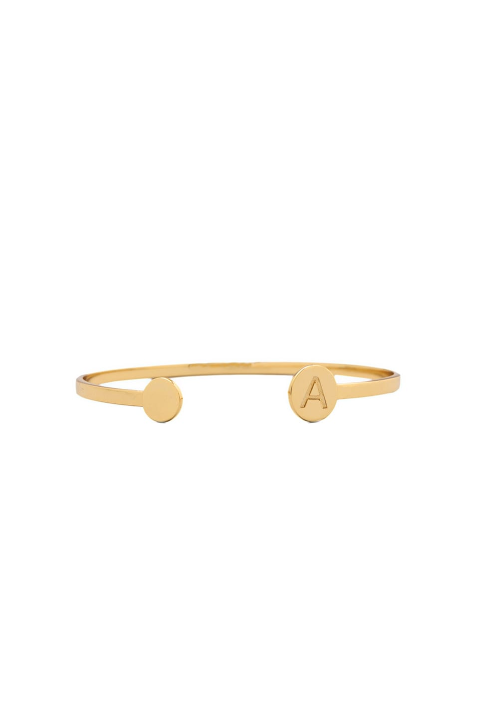gorjana Alphabet Disc Cuff in 'A'
