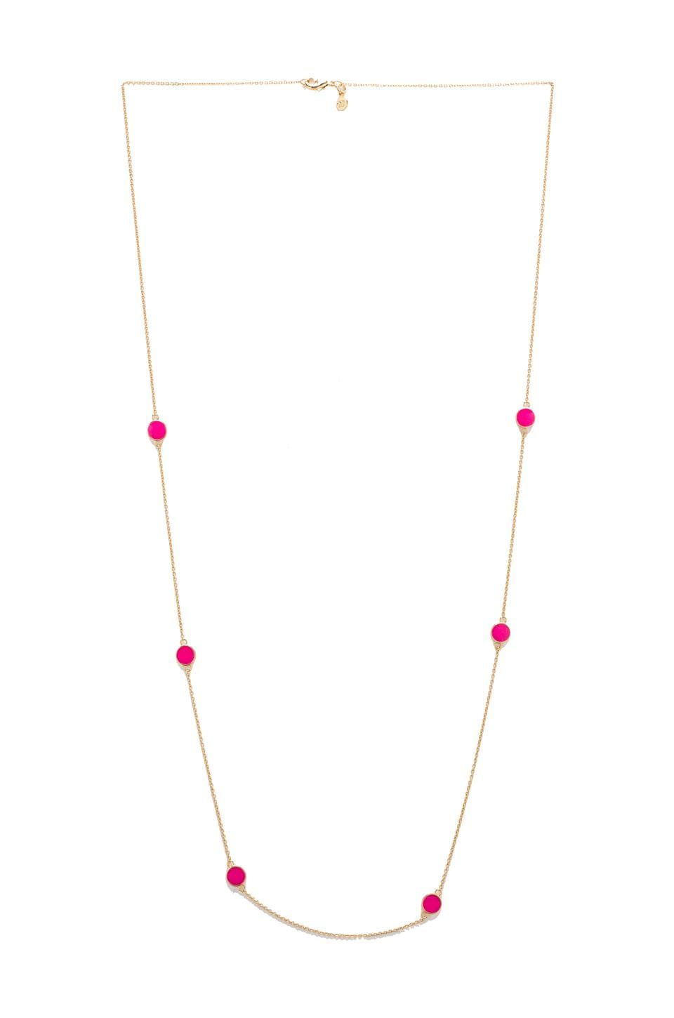 gorjana Electric Disc Wrap in Neon Pink