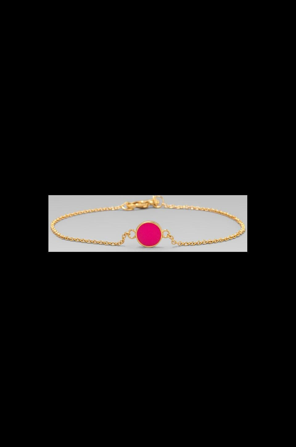 gorjana Electric Disc Bracelet in Neon Pink