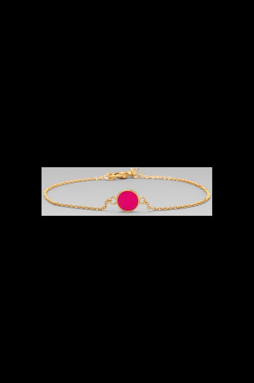 gorjana Electric Disc Bracelet in Neon Pink