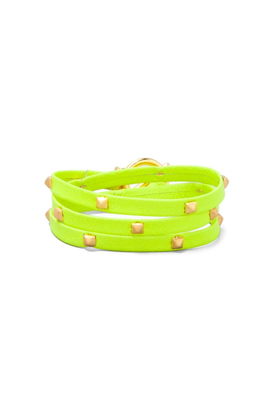 gorjana Sadie Neon Triple Wrap in Neon Yellow
