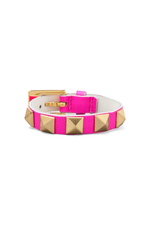 gorjana Pyramid Stud Bracelet in Neon Pink