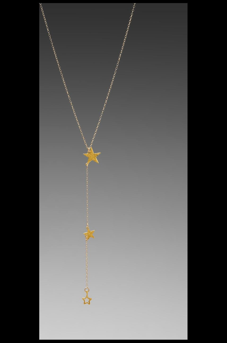 gorjana Super Star Lariat in Gold
