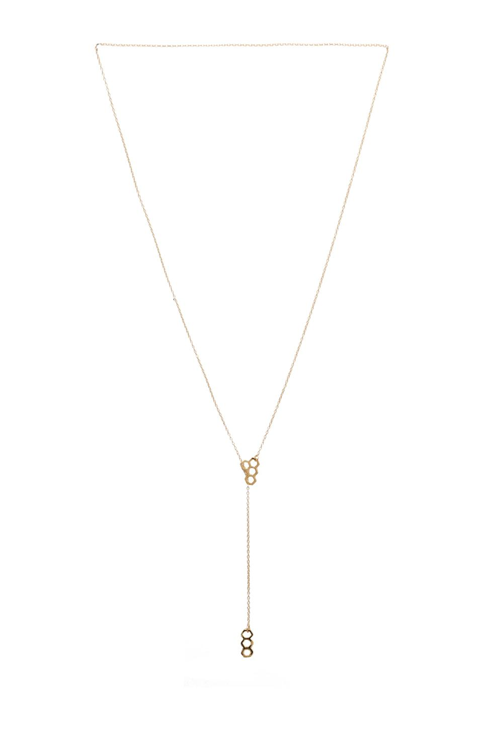 gorjana Honeycomb Lariat in Gold