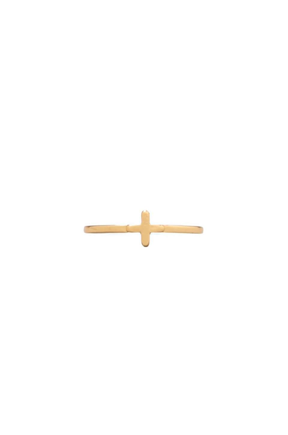 gorjana Cross Over Midi Ring in Gold