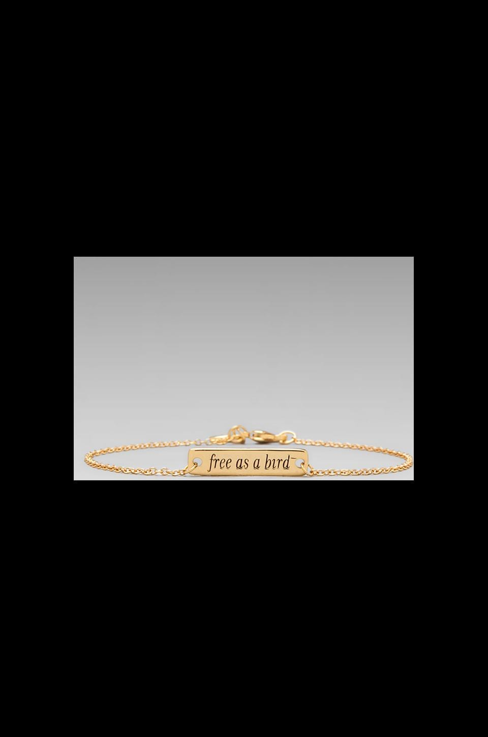 gorjana Free As A Bird Bracelet in Gold