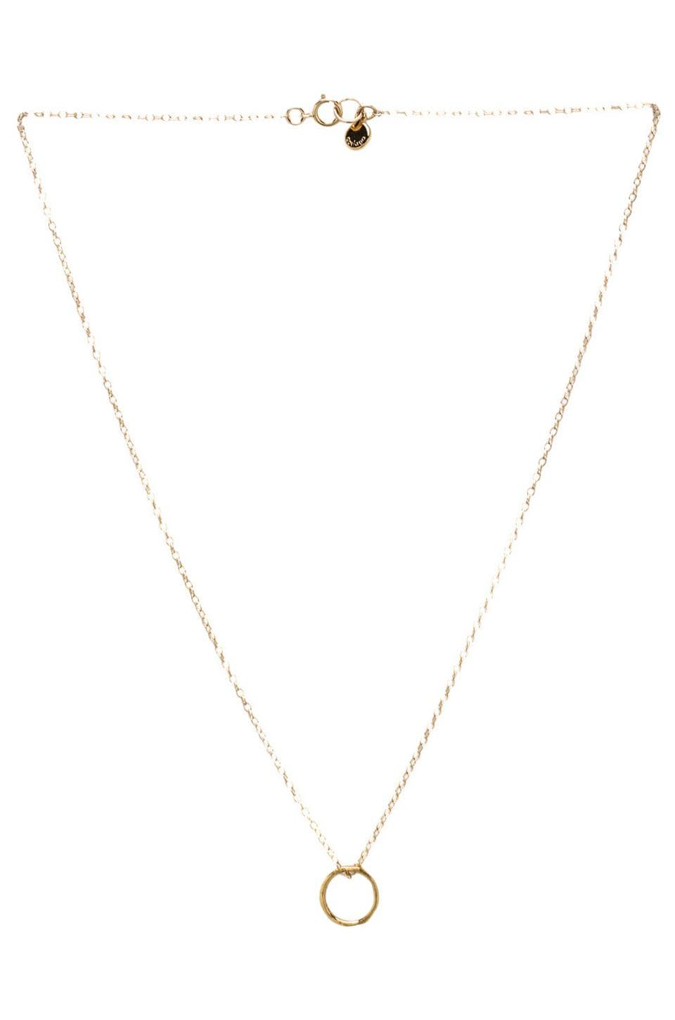 gorjana G Pressed Small Necklace en Or