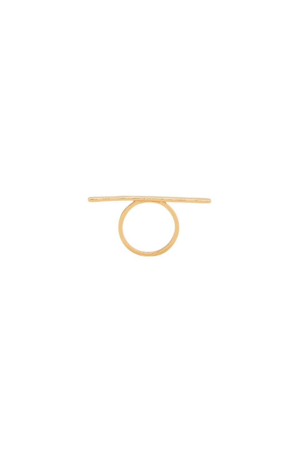 gorjana G Pressed Bar Ring in Gold