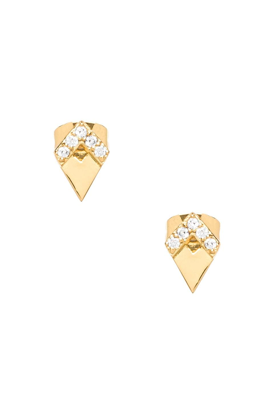 gorjana Delano Deco Studs in Gold