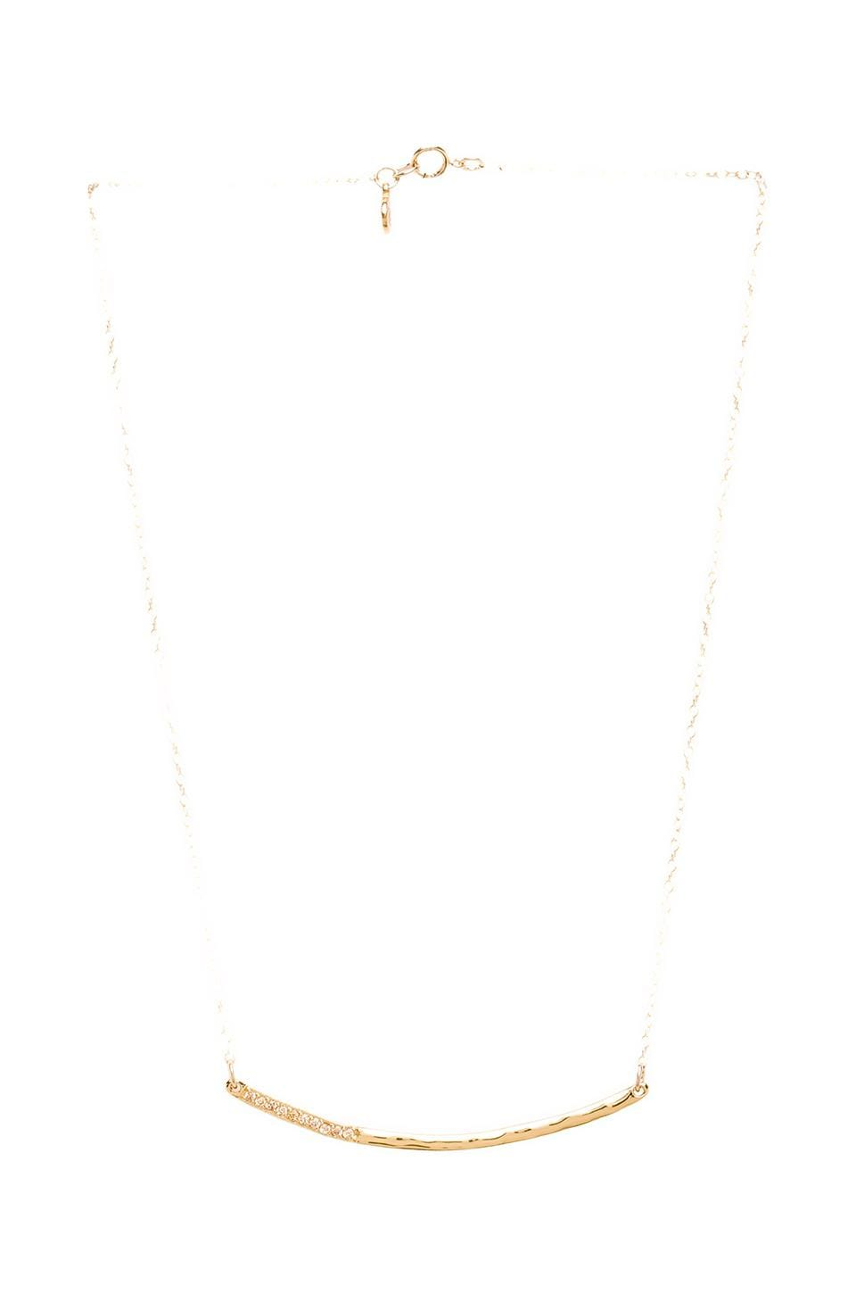 gorjana Taner Dagger Shimmer Necklace in Gold