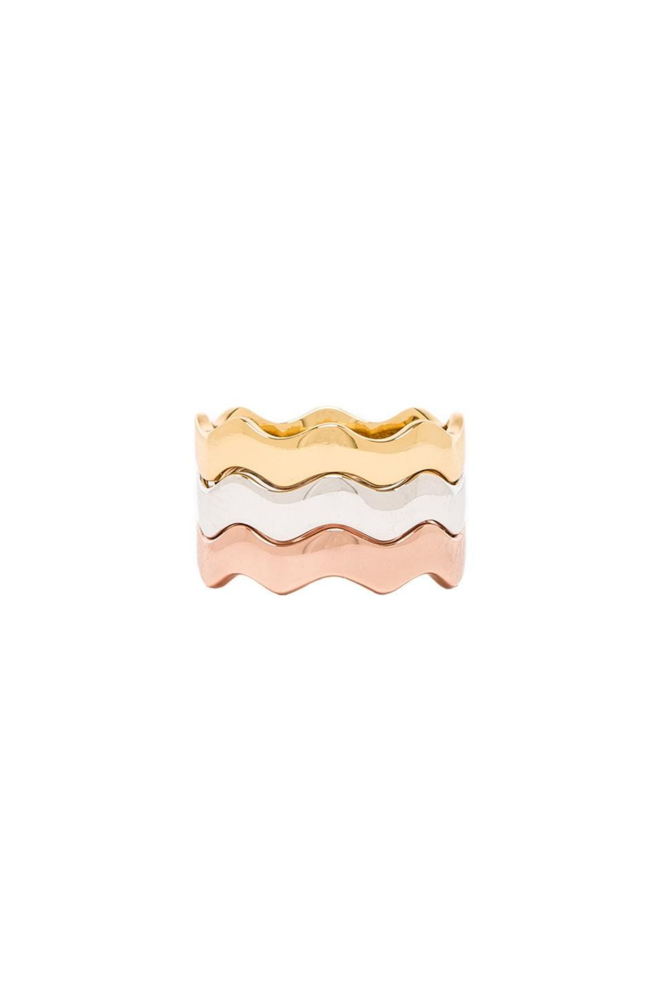 gorjana Zig Zag Ring Set in Mixed