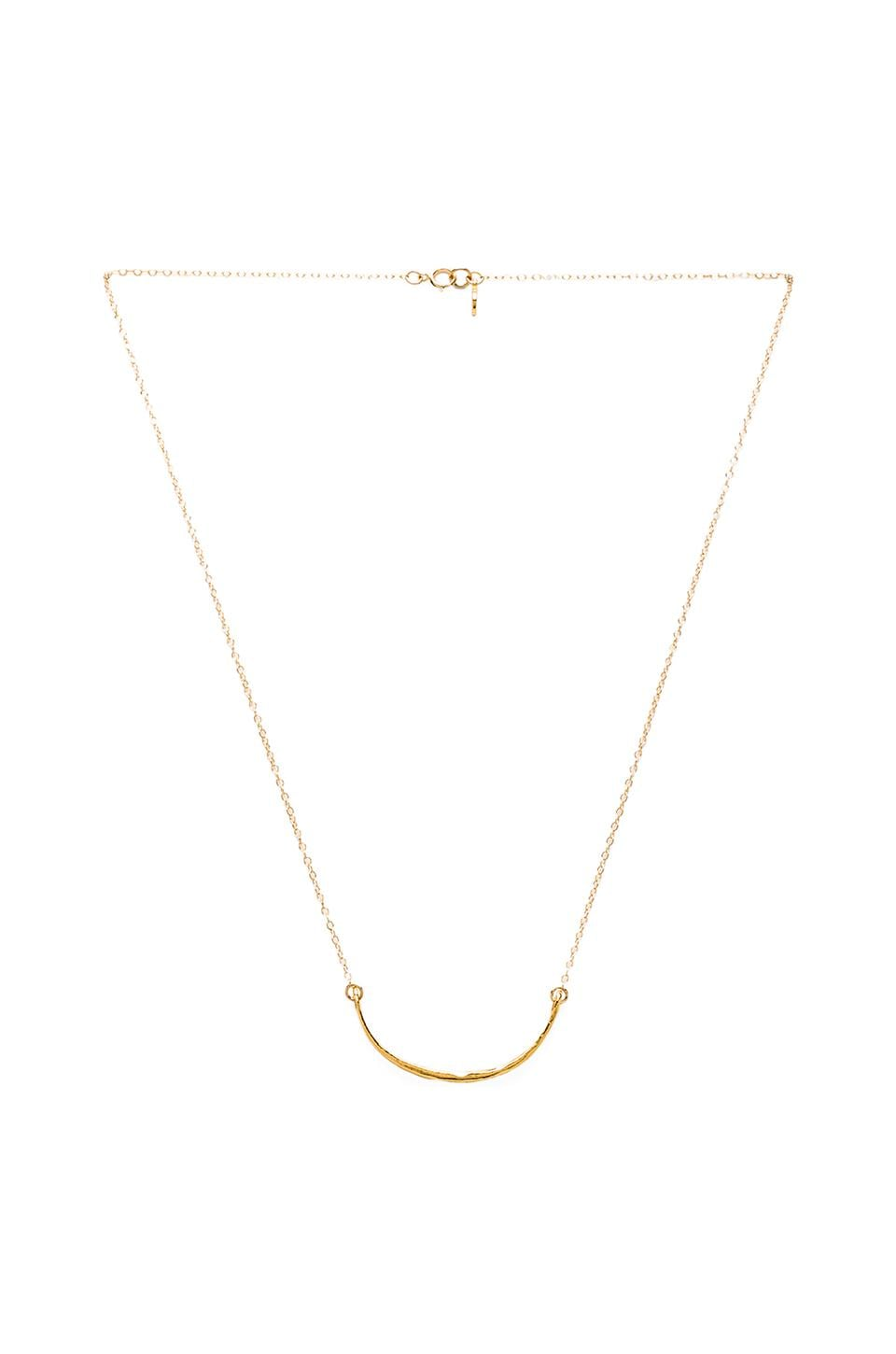gorjana Taner Curved Small Necklace in Gold