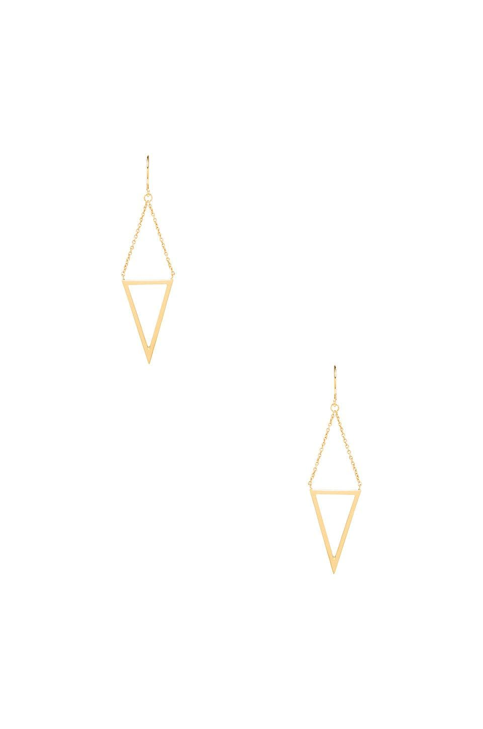 gorjana Mika Cutout Drop Earrings in Gold
